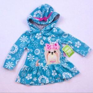 Adorable blue puppy Sesame Street hoodie 6/9 mo